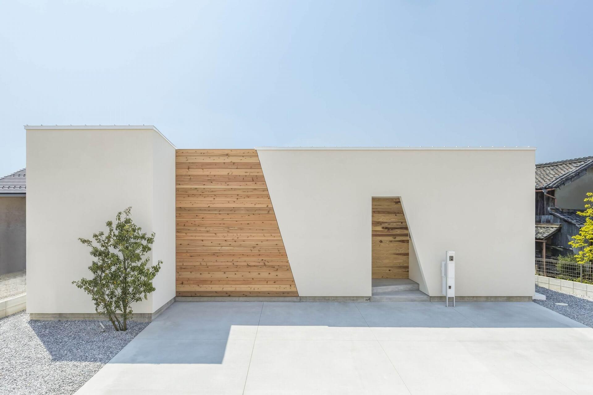 スライドショー用の白い外観の家01